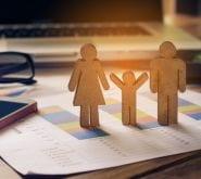 Stick Figure Family on Data Paperwork