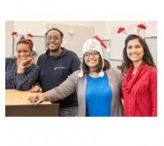 Employees at Holiday Party