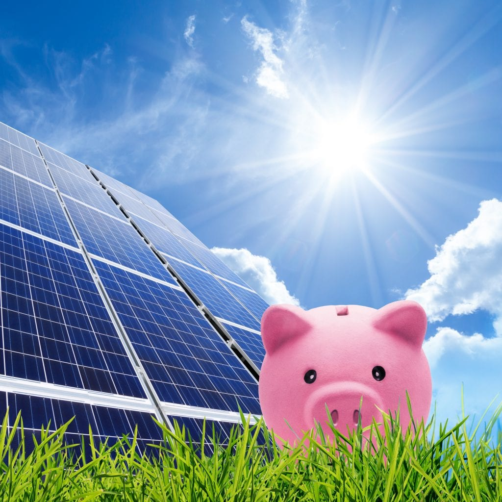 Piggy Bank with Solar Panel